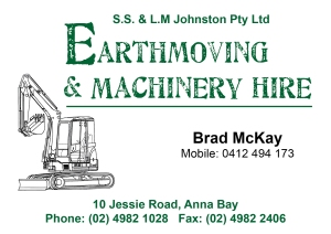 Johnson Earthmoving Fence Sign