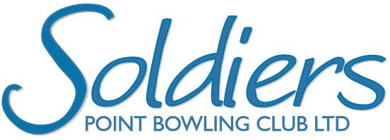 Soldiers Point Bowling Club - logo Blue